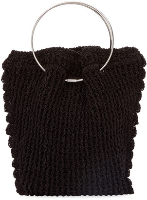 The Row Flat Micro Circle Bag in Textile