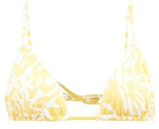 Eres Starfish Coralsand-print Bikini Top - Yellow White