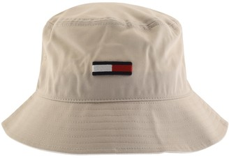 Tommy Jeans Flag Bucket Hat Beige