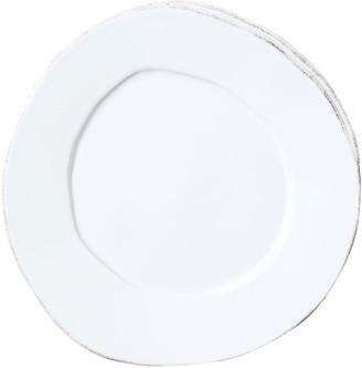 Vietri Lastra White Salad Plate