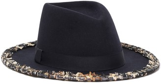 Eugenia Kim Blaine Tweed-trimmed Wool-felt Fedora