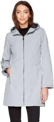 Calvin Klein Women's Water Resistant Rain Jacket with Hood