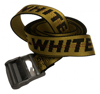 Off-White Yellow Cloth Belts