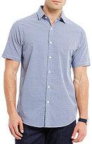 Hart Schaffner Marx Seersucker Check Short-Sleeve Woven Shirt