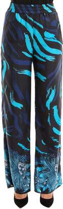 Versus Silk Print Flared Trousers