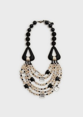 Giorgio Armani Multi-Strand Necklace With Triangular Elements