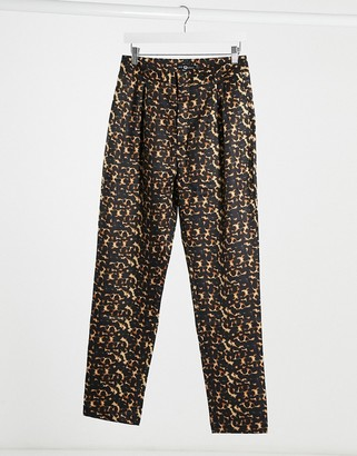 Daisy Street cigarette trousers in tortoiseshell