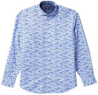 Bugatchi Abstract Print Classic Fit Sport Shirt