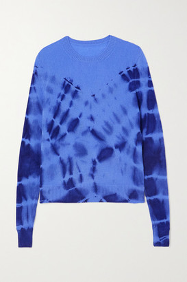 The Elder Statesman Tie-dyed Cashmere Sweater - Blue