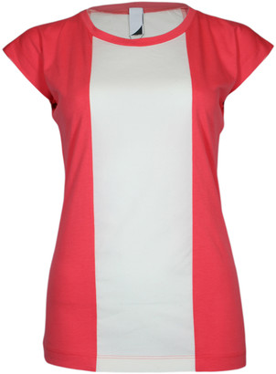 Format BASE Rose & Ecru Single Plain T-Shirt - S - White/Red