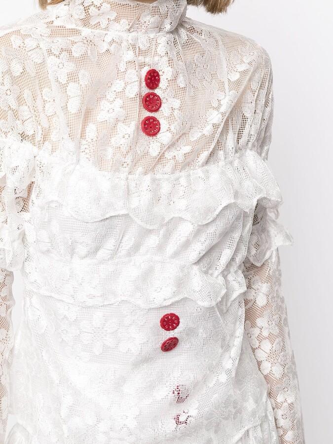 Thumbnail for your product : yuhan wang Ruffled Lace Dress
