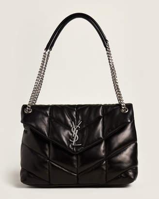 Saint Laurent Black LouLou Puffer Medium Shoulder Bag