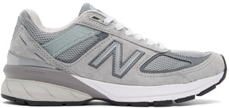 New Balance Grey Made In US 990v5 Sneakers