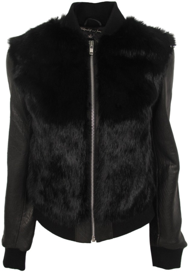 Elizabeth and James Brice Fur and Leather Jacket