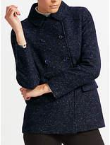 John Lewis Herringbone Pea Coat
