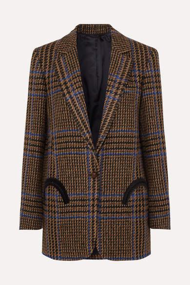 BLAZÉ MILANO Cariba Weekend Checked Wool-blend Tweed Blazer - Brown