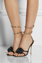 Nicholas Kirkwood Rose-embellished suede sandals