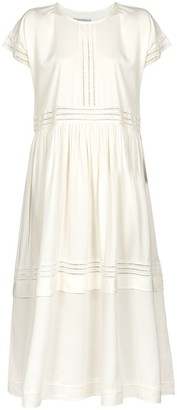Naftul Eyelet Trim Kimono Sleeve Maxi Dress ,White.