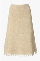 Derek Lam A-Line Skirt With Tassels