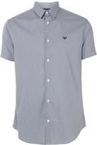 Emporio Armani micro check shirt