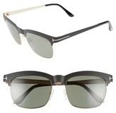 Tom Ford Women's 'Elena' 54Mm Retro Polarized Sunglasses - Black/ Green Polarized