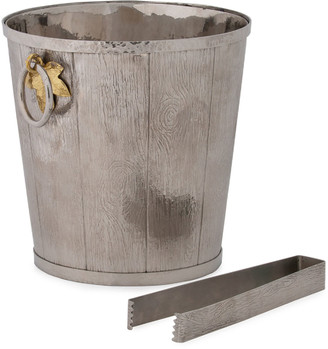 Michael Aram Ivy Oak Bucket with Tongs
