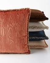 """Sferra Faux Bois Velvet Accent Pillow, 18""""Sq."""
