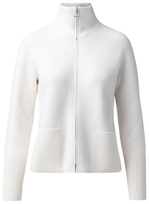 Akris Cashmere Zip-Front Sweater