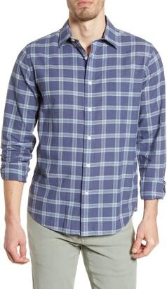 Faherty Cloud Summer Blend Check Button-Up Shirt