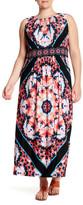 London Times Techno Prism Maxi Dress (Plus Size)