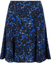 Yigal Azrouel Midnight Ferns print skirt