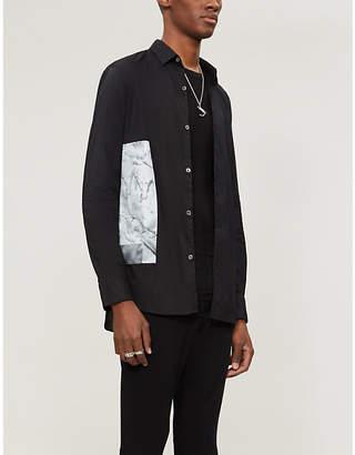 Ann Demeulemeester Slim-fit graphic-print cotton shirt
