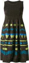 Issey Miyake tribal print dress - women - Cotton/Nylon/Polyester/Polyurethane - One Size