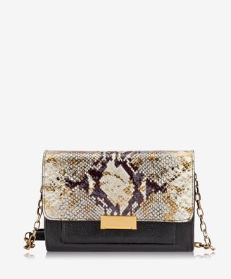 GiGi New York Kate Crossbody, Gold Wash Embossed Python