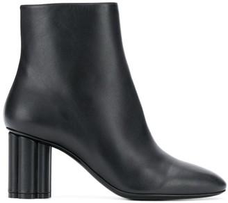 Salvatore Ferragamo Almond Toe Ankle Boots