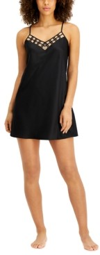 INC International Concepts Inc Satin Mesh Chemise Nightgown, Created for Macy's