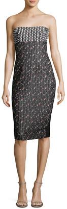 Victoria Beckham Floral Strapless Dress