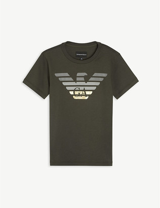 Emporio Armani Eagle logo-print cotton T-shirt 4-16 years
