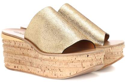 Chloé Camille cork and leather mule