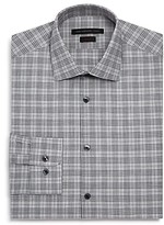 John Varvatos Star Usa Melange-Plaid Slim Fit Dress Shirt