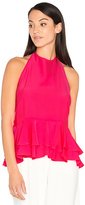 Milly Halter Ruffle Tank in Pink. - size 0 (also in 2,4,6)