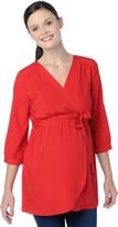 Motherhood Convertible Sleeve Wrap Maternity Top