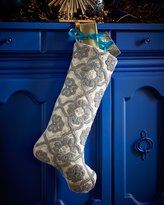 Kim Seybert Floral Gate Christmas Stocking