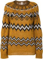 Nude metallic knitted jumper - women - Polyester/Viscose - 40