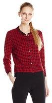 Anne Klein Women's Houndstooth Sweater Cardigan