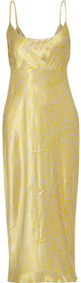 Ganni Cameron Floral-print Satin Midi Slip Dress