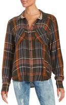 Free People Plaid Flannel Shirt