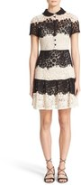 RED Valentino Women's Macrame Lace Fit & Flare Dress