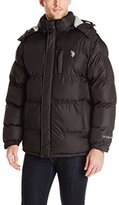 U.S. Polo Assn. Men's Classic Short Puffer Jacket with Small Logo