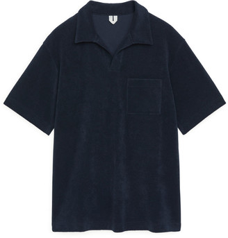 Arket Cotton Towelling Polo Shirt